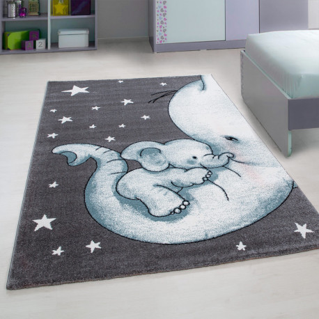 Tapis rectangle pour chambre enfant éléphant Zoupiou