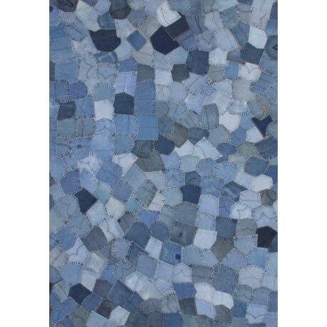 tapis bleu rock 39 n 39 roll ii par lalee. Black Bedroom Furniture Sets. Home Design Ideas