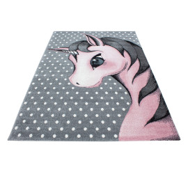 Tapis rectangle pour chambre de bébé licorne Willis