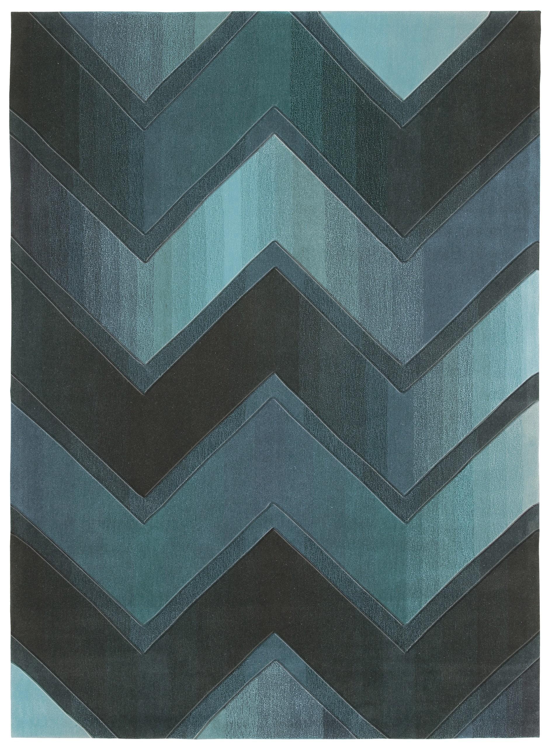 Tapis bleu Digiworld par Arte Espina