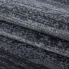 Tapis rayé uni à courtes mèches rectangle Ocrul