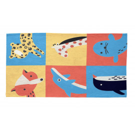 Tapis multicolore pour enfant Travelling