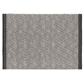 Tapis plat noir intérieur moderne Medford