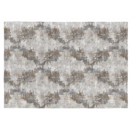 Tapis design plat gris pour salon Time