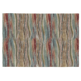 Tapis contemporain plat multicolore en coton Water
