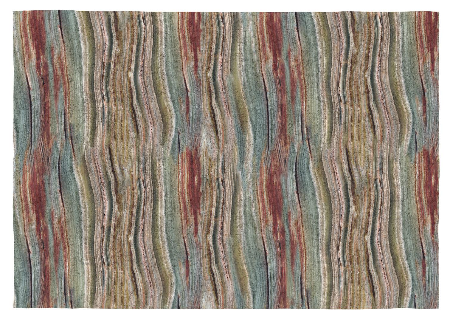 Tapis contemporain plat multicolore en coton Water