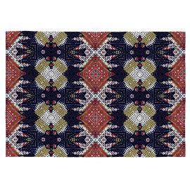 Tapis en coton multicolore plat pour salon Wax