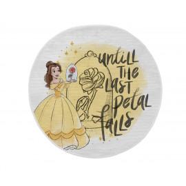 Tapis rond pour fille jaune lavable en machine Bella