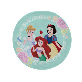Tapis Disney rond turquoise pour fille Beautiful Princess