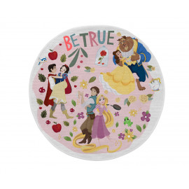 Tapis lavable en machine pour fille multicolore rond Couples Princess