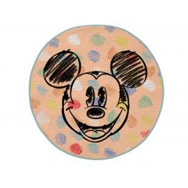 Tapis rond Disney lavable en machine multicolore Dots Mickey