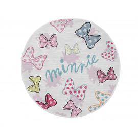 Tapis pour chambre de fille Disney rond blanc Dots Minnie