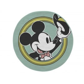 Tapis rond bleu lavable en machine Disney Porthold Mickey