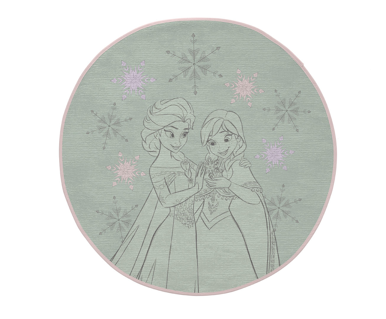 Tapis Disney vert rond pour fille Sisters