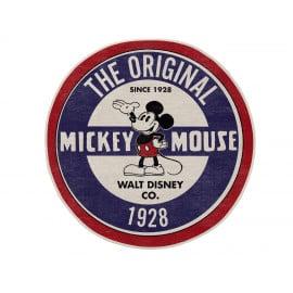 Tapis lavable en machine rond bleu Disney The Original Mickey