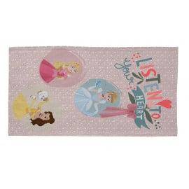 Tapis rose pour chambre de fille Disney lavable en machine Heart Princess
