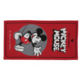 Tapis pour garçon rouge Disney rectangle Hello Mickey