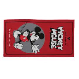 Tapis pour garçon rouge Disney rectangle Hello Mickey