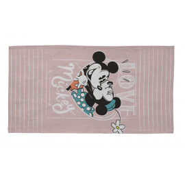 Tapis lavable en machine Disney rose Love Minnie