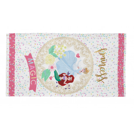 Tapis de chambre pour fille blanc Disney Magic Princess