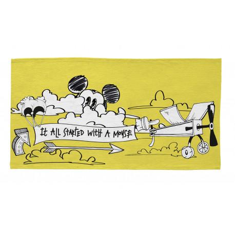Tapis lavable en machine jaune Disney Mickey Aviator