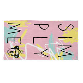 Tapis lavable en machine rose pour fille Disney Simply Minnie