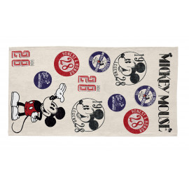 Tapis rectangle multicolore lavable en machine Vintage Mickey
