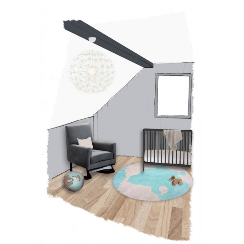 tapis rond enfant mondito par nattiot. Black Bedroom Furniture Sets. Home Design Ideas