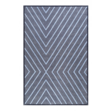 Tapis bleu Esprit géométrique design V. Flip