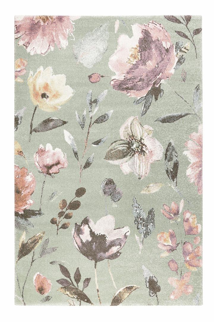 Tapis floral à mèches courtes contemporain Summer Breeze Wecon Home