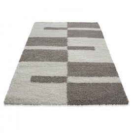 Tapis shaggy design rectangle géométrique Oficio