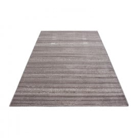 Tapis Rayé Uni à Courtes Mèches Rectangle Ocrul