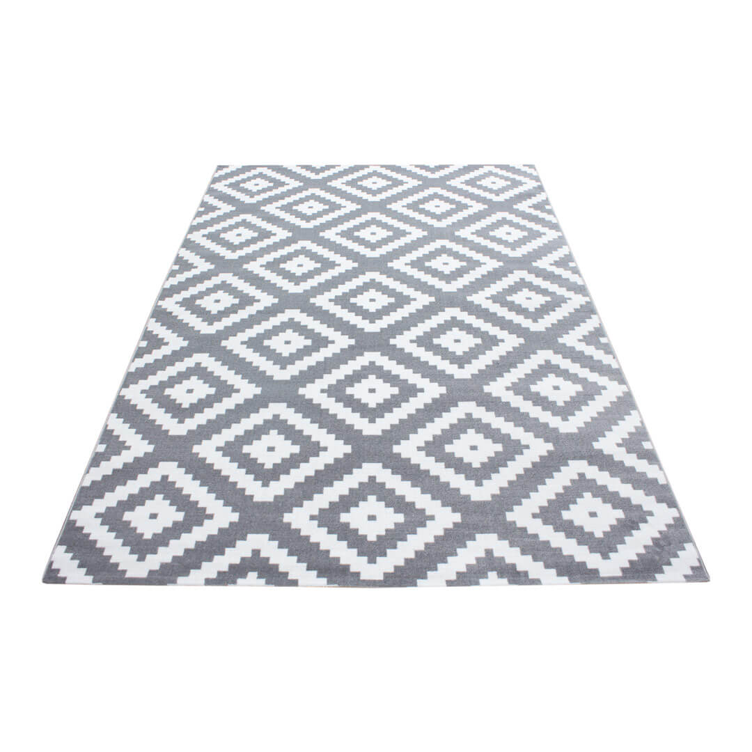 Tapis scandinave de salon rectangle Adza