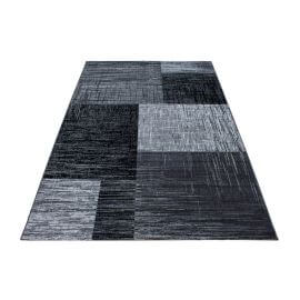 Tapis contemporain pour salon noir Rozza