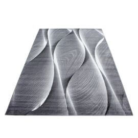 Tapis pour salon rectangle effet courbe Alabama