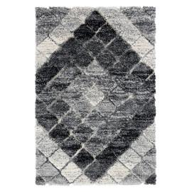 Tapis shaggy cubique effet 3D design gris Carmelo