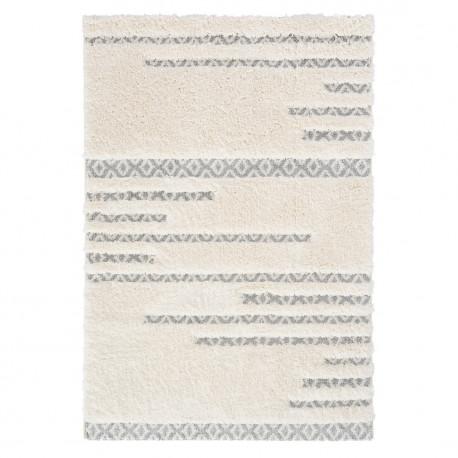 Tapis scandinave shaggy géométrique crème Square