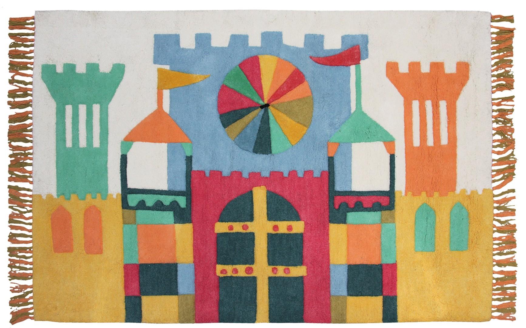 Tapis enfant Little Castle par Nattiot
