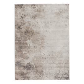 Tapis marron contemporain à courtes mèches rectangle Ludivine