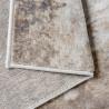 Tapis marron contemporain à courtes mèches rectangle Ludivine