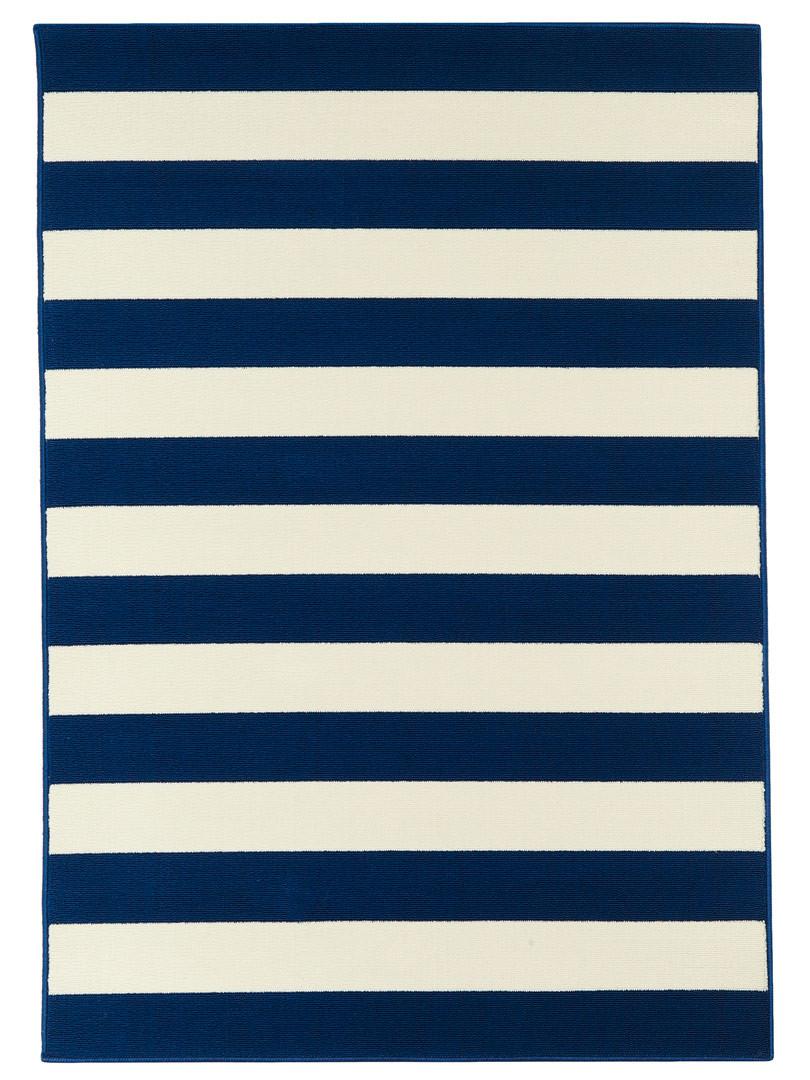 Tapis de terrasse et de salon contemporain bleu marine Venise