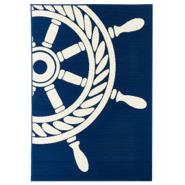 Tapis moderne bleu marine pour extérieur et intérieur Vérone