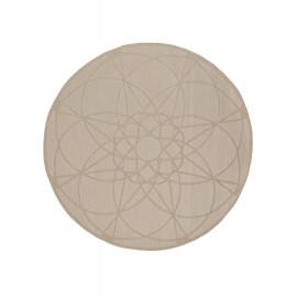Tapis rond extérieur et intérieur géométrique Parme