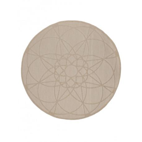 Tapis rond extérieur géométrique Parme