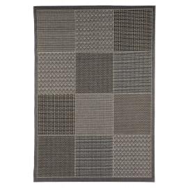 Tapis de terrasse design gris cubisme Livourne