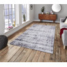 Tapis vintage rectangle rayé Sassari