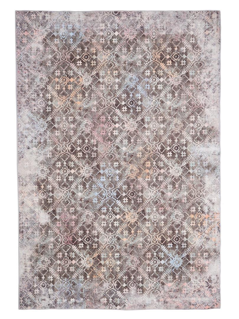 Tapis vintage en coton rayé multicolore Forli