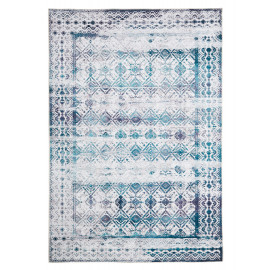 Tapis en coton vintage rectangle rayé Vicence