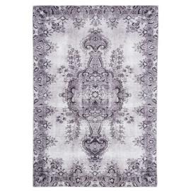 Tapis floral de salon gris contemporain Cesena
