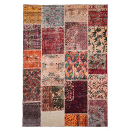 Tapis patchwork multicolore pour salon Barletta